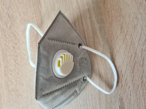 Atemschutzmaske 5 Stück mit Ausatemventil inkl. Versand-grau